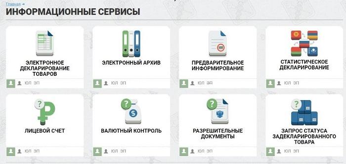 Информационные сервисы ФТС