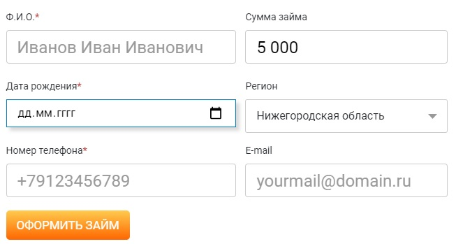 НАКТА-Кредит заявка