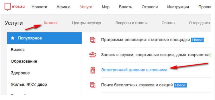 Электронный дневник ПГУ МОС РУ дневник