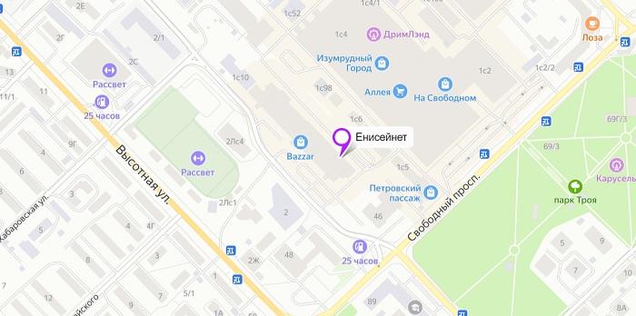 карта енисей