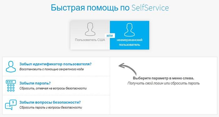 Быстрая помощь по SelfService