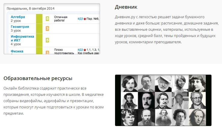 Дневник.ру функционал
