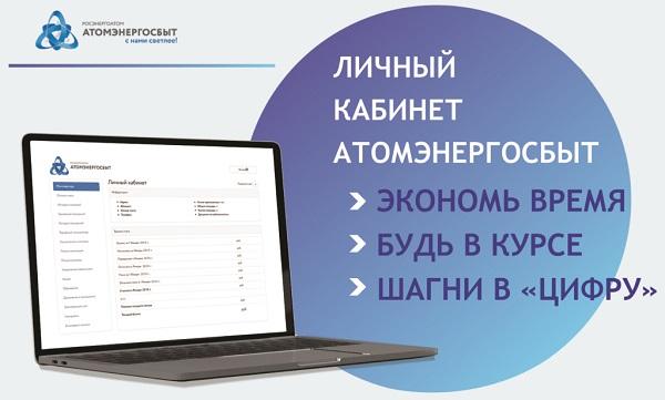 личный кабинет атомэнергосбыт интерфейс