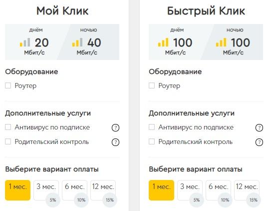 К-Телеком тарифы
