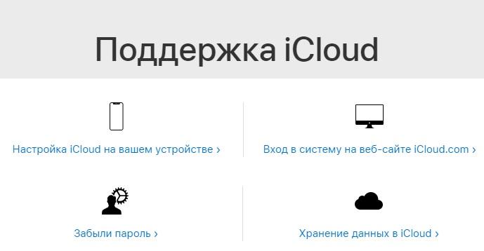 iCloud поддержка