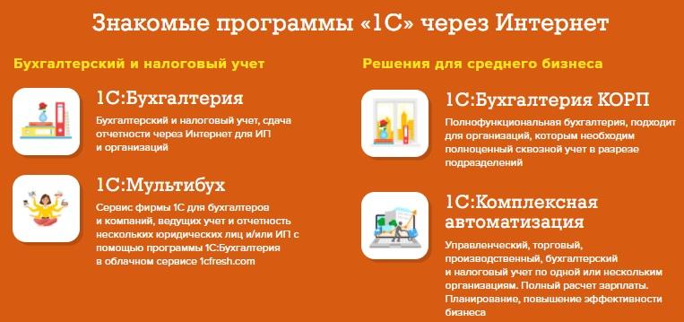 1C Fresh услуги