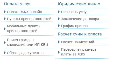 МП КВЦ услуги